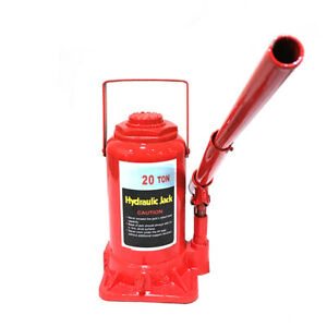 Hydraulic Bottle Jack 20 Ton Capacity Glide Action Pump With Long Handle Us