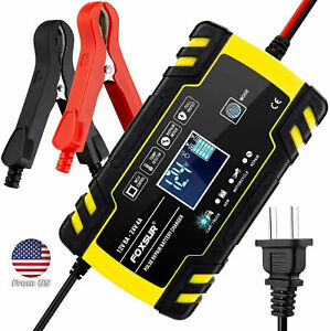 Car Battery Charger 12v 8a 24v 4a Compatible Automotive Smart Portable Battery