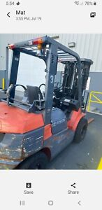2006 Toyota Forklift Model 7fgu25 With Fork Spreader Option Runs Good No Issues
