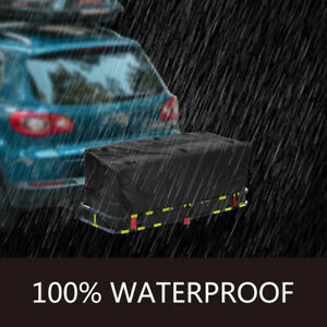 Waterproof Hitch Carrier Cargo Bag 59 x24 x24 20cu Ft With 6 Lashing Straps