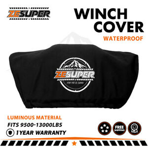 Zesuper Luminous Winch Cover Soft Dust Cover Fit 9500 13000lbs Winch Accessories