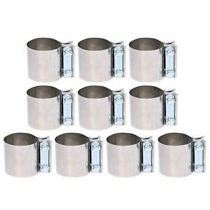 10x 2 1 4 Stainless Steel Butt Joint Band Exhaust Clamp 2 25 Sleeve Coupler
