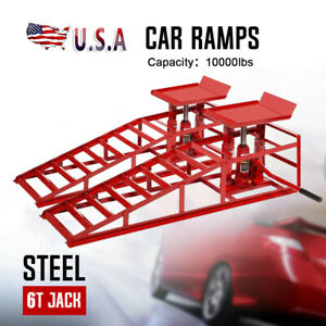 A Pair Lift Repairframe Auto Car Service Ramps Lifts Heavy Duty Hydraulic F4