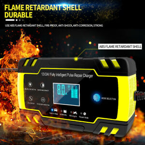 8a Automatic Car Battery Charger Jump Starter Pulse Repair 12v 24v Agm Gel F8p8