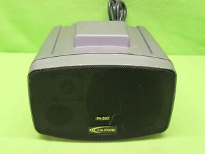 Califone Pa 300 Presentation Pro Stereo Portable Pa Speaker tested Working