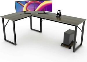 Modern L shaped Corner Desk Computer Desk Gaming Office Pc Table