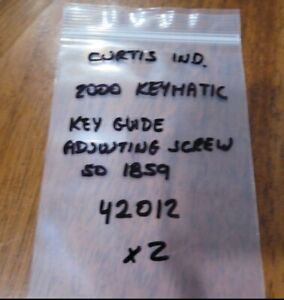 Curtis Industries 2000 Keymatic Key Guide Adjusting Screw 42012 Nos 05c 2 1
