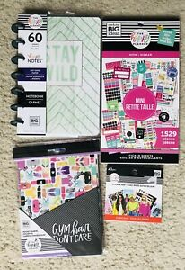 Lot Of 4 The Happy Planner Notebook Sticker Book Accessory Bundle