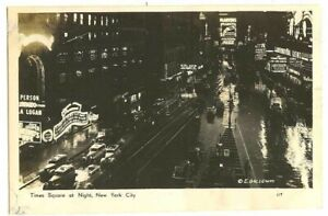 NEW YORK City Times Square Coca Cola 1940s RPPC real photo postcard
