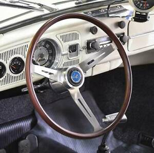 Vw Beetle Flat4 Gt Wood 14 Vintage Steering Wheel Bug Type3 Karmman Ghia