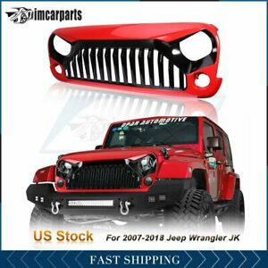 1x Front Bumper Grill Grille Red Angry Bird For Jeep Wrangler Jk 07 18