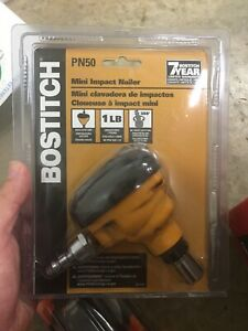 Stanley Bostitch Pn50 Air Pneumatic Mini Easy Grip Impact Palm Nailer New