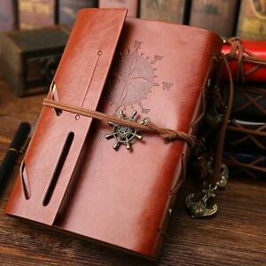 Genuine Real Leather Notebook Planner Organizer Binder Books Journal Diary Offic
