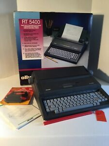 Olivetti Electric Typewriter Rt 5400 Plus Original Packaging And Manual
