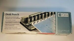 Levenger Circa Universal Desk Punch 11 Hole Circa Notebook Adjustable Slide