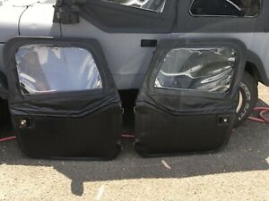 Bestop Front Fabric 2 piece Doors For Jeep Cj7 Yj Wrangler 80 95 Blk