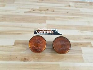 Jeep Jk Wrangler Oem Front Grill Turn Signal Pair Amber 2007 2013 19578