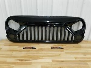 Jeep Jk Wrangler Aftermarket Grill Painted Gloss Black 2007 2017 23312