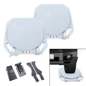 Wheel Alignment Turntables Plates Turn Tables Pads Car Caster 345mm Fast Ship
