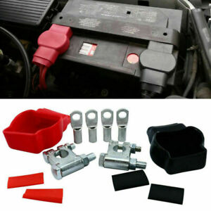 Military Style Battery Terminal Top Post Cover Sets Car Boat Marine Rv Vehicle