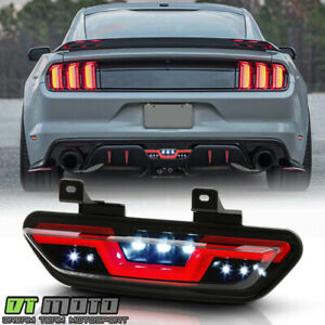 2015 2019 Ford Mustang Smoke W red Led Tube Parking Light Reverse Back Up Lamp