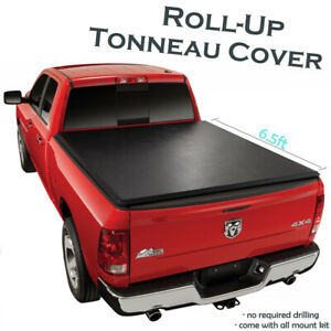 Lock Roll Up Soft Tonneau Covers For 2002 2008 Dodge Ram 1500 6 5 Ft Bed Cover