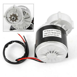 Electric Vehicle Geared Motor 24v 350w 300 Rpm For Ebike 9t Sprocket Mini Bikes