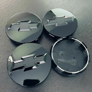4pcs Gloss Black Wheel Center Hub Caps Cover 83mm For Silverado Suburban Tahoe