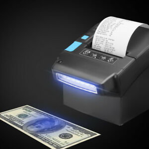 Thermal Printer With Us Dollar Currency Money Detector 80mm Pos Receipt Usb Lan