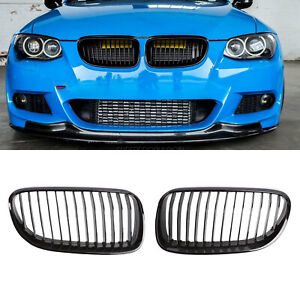 For Bmw E92 E93 Lci 10 13 328i 335i Convertible Gloss Black Front Kidney Grilles