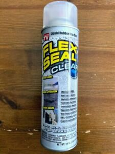 New Flex Seal Fscl20 Spray Rubber Sealant Coating 14 oz Clear Water Resistant