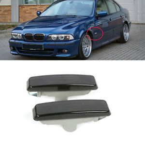 Pair Side Marker Lights Lamps Smoke Fit Bmw E39 5 series 528i 540i M5