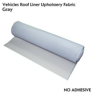 Gray 60 X60 Car Headliner Fabric Upholstery Sagging Repair Replace Backed Foam