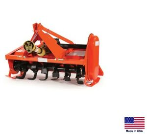 Rotary Tiller 3 Point Hitch Mounted Pto Driven Sub compact Tractors 48