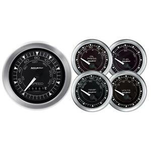 Autometer 8100 Chrono 5 Piece Gauge Kit