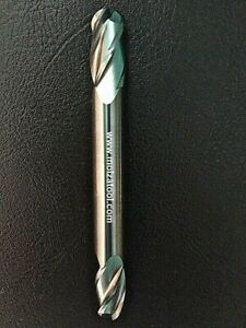 Carbide Ball Nose End Mill 3 8 Dia 3 4 Loc 4 Flute 3 5 Oal Xl Double End Extra