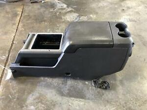 2011 2016 Ford F350 Front Console Floor With Armrest Xlt W chrome Pack Grey