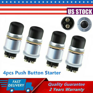 4x 12v 50a Car Boat Track Switch Push Button Horn Engine Start Ignition Starter