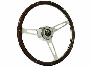 1978 1991 Ford Bronco S6 Classic Wood Steering Wheel Espresso Kit