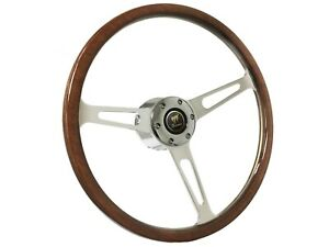 1966 1972 Ford Bronco S6 Classic Wood Steering Wheel Kit
