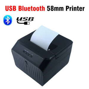 Bluetooth 58mm Thermal Paper Printer Barcode Label Print Device For Ios Android