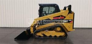 2014 Caterpillar 259d Cab Heat Air Skid Steer Loader Cat 259