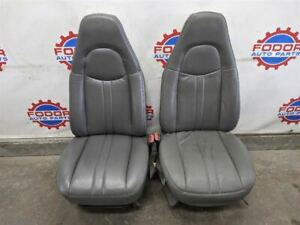 97 09 Chevy Express Van Savana Front Seats Left And Right Grey
