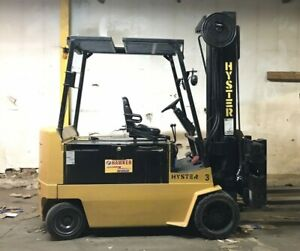 Hyster Electric Forklift Ex100xl 8000 Lbs Fork Positioning To 88 Inches
