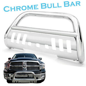 Stainless Steel Bull Bar For 2006 2008 Dodge Ram 1500 Grille Guard W Skid Plate
