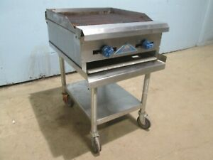 castle Crb 24 Heavy Duty Commercial nsf 24 w Natural Gas Charbroiler W stand
