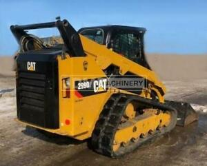 2016 Caterpillar 299d2 Cab Heat Air Track Skid Steer Loader Cat 299