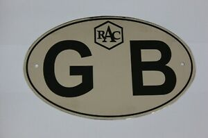 Car Club Oval Gb Logo Sticker Decal Badge Great Britain Flag Universal Car
