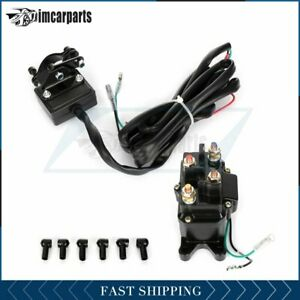 1x Solenoid Relay Contactor And 1x Winch Rocker Thumb Switch 12v