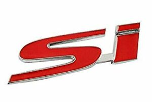New Rear Red Badge Logo Trunk Emblem For 2006 2011 Honda Civic Si Ex Lx